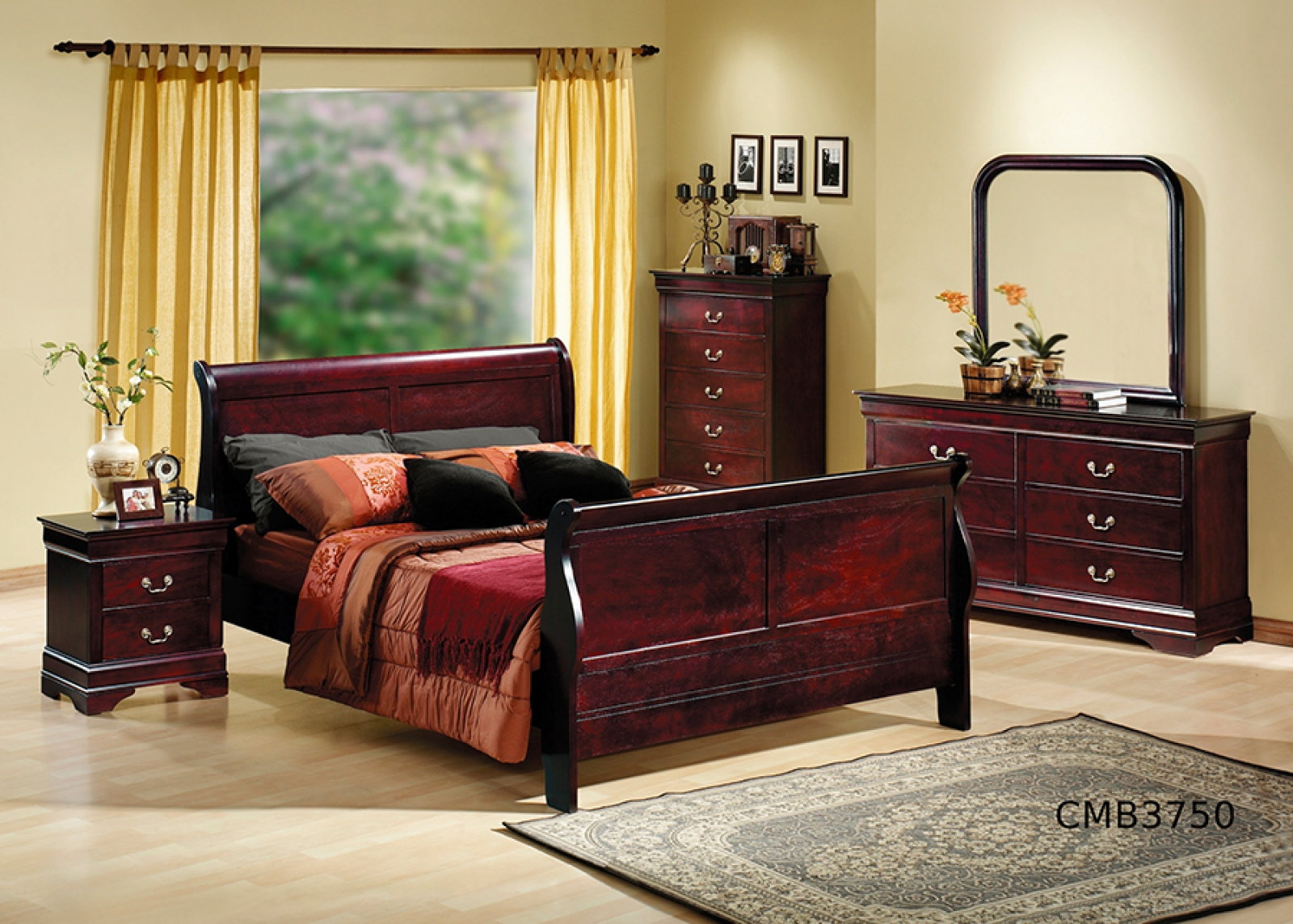 louis philippe bedroom cherry jasons furniture outlet 15928 | louis philippe bedroom cherry
